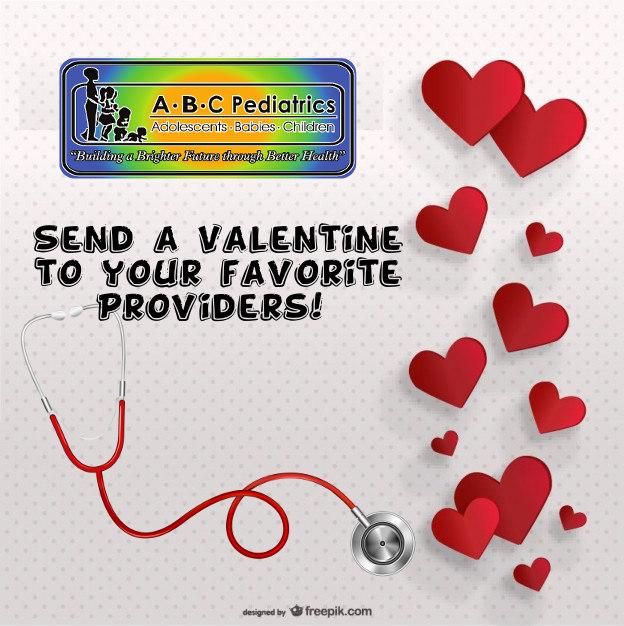 valentines cards for providers abc pediatrics of dunn - Send A Valentine