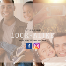 father child look alike photo contest